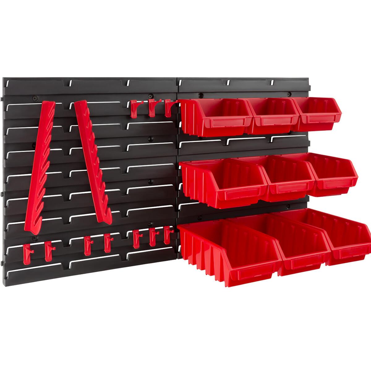 Werkzeughalter für Lochwand rot Stecksystem für Wandplatte