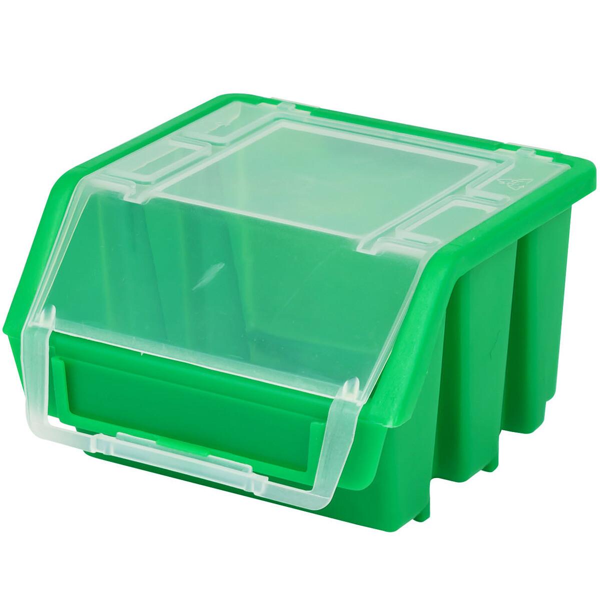 gr n stapelbox stapelkiste sauberes lagern kleinteilekiste mit deckel 0 84. Black Bedroom Furniture Sets. Home Design Ideas
